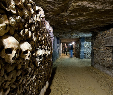 France, Paris, the Catacombs, bones